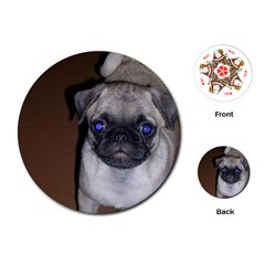 Pug Full 5 Playing Cards (Round)