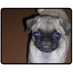 Pug Full 5 Fleece Blanket (Medium)