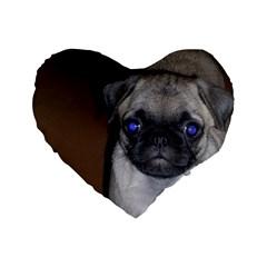 Pug Full 5 Standard 16  Premium Heart Shape Cushions