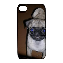 Pug Full 5 Apple iPhone 4/4S Hardshell Case with Stand