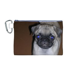 Pug Full 5 Canvas Cosmetic Bag (M)