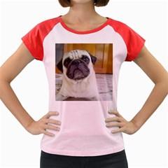 Pug Laying Women s Cap Sleeve T-Shirt