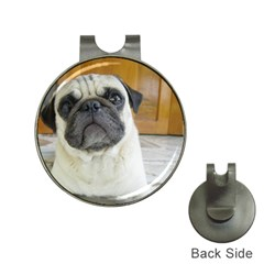 Pug Laying Hat Clips with Golf Markers