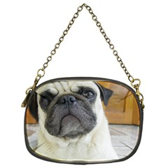 Pug Laying Chain Purses (one Side)