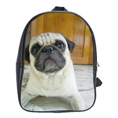 Pug Laying School Bags(Large)