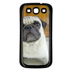 Pug Laying Samsung Galaxy S3 Back Case (Black)