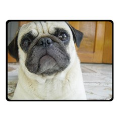 Pug Laying Double Sided Fleece Blanket (Small)