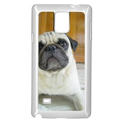 Pug Laying Samsung Galaxy Note 4 Case (White)