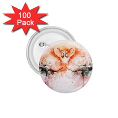 Flamingo Absract 1 75  Buttons (100 Pack)