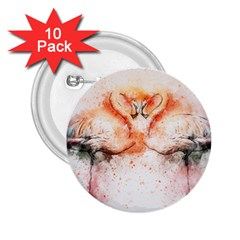 Flamingo Absract 2.25  Buttons (10 pack)