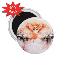 Flamingo Absract 2.25  Magnets (100 pack)