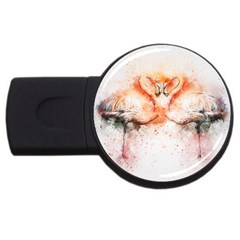 Flamingo Absract USB Flash Drive Round (1 GB)