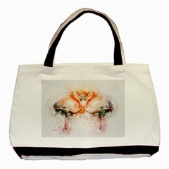 Flamingo Absract Basic Tote Bag (Two Sides)