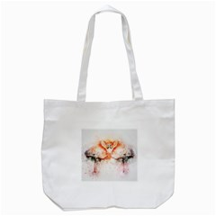 Flamingo Absract Tote Bag (white)