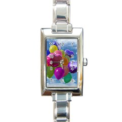Balloons Rectangle Italian Charm Watch