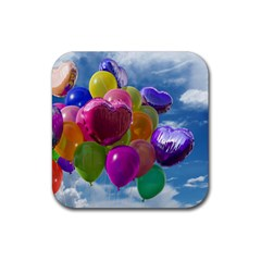 Balloons Rubber Square Coaster (4 pack)