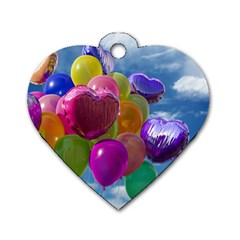 Balloons Dog Tag Heart (One Side)