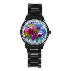 Balloons Stainless Steel Round Watch