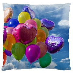 Balloons Large Flano Cushion Case (Two Sides)