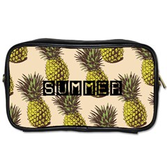 Pineapple Travel Toiletry Bag (two Sides)