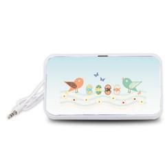 Cute Birds Portable Speaker (White)