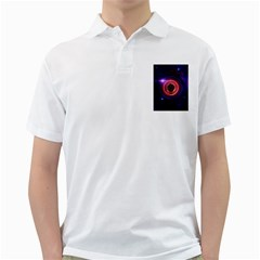 The Little Astronaut on a Tiny Fractal Planet Golf Shirts