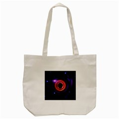 The Little Astronaut on a Tiny Fractal Planet Tote Bag (Cream)