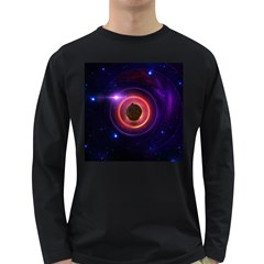 The Little Astronaut On A Tiny Fractal Planet Long Sleeve Dark T Shirts