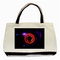 The Little Astronaut on a Tiny Fractal Planet Basic Tote Bag