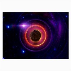 The Little Astronaut On A Tiny Fractal Planet Large Glasses Cloth