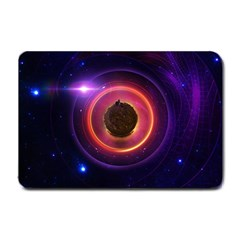 The Little Astronaut on a Tiny Fractal Planet Small Doormat