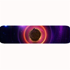 The Little Astronaut on a Tiny Fractal Planet Large Bar Mats