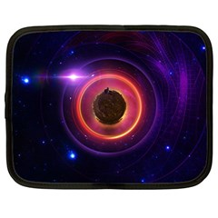 The Little Astronaut on a Tiny Fractal Planet Netbook Case (Large)