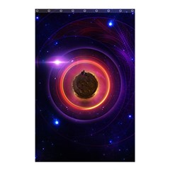 The Little Astronaut on a Tiny Fractal Planet Shower Curtain 48  x 72  (Small)