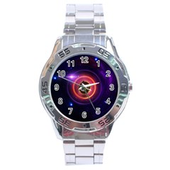 The Little Astronaut on a Tiny Fractal Planet Stainless Steel Analogue Watch