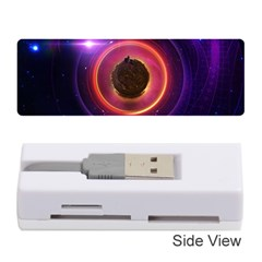 The Little Astronaut on a Tiny Fractal Planet Memory Card Reader (Stick)