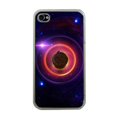 The Little Astronaut on a Tiny Fractal Planet Apple iPhone 4 Case (Clear)
