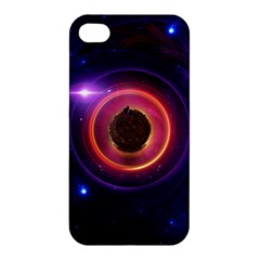 The Little Astronaut on a Tiny Fractal Planet Apple iPhone 4/4S Hardshell Case