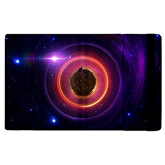The Little Astronaut on a Tiny Fractal Planet Apple iPad 2 Flip Case