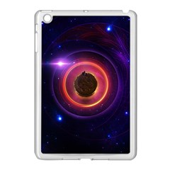 The Little Astronaut on a Tiny Fractal Planet Apple iPad Mini Case (White)