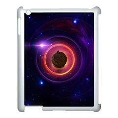The Little Astronaut on a Tiny Fractal Planet Apple iPad 3/4 Case (White)