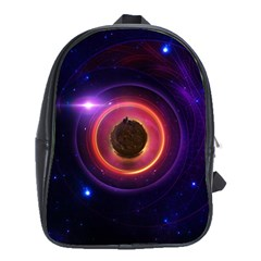 The Little Astronaut on a Tiny Fractal Planet School Bags (XL)