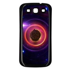 The Little Astronaut on a Tiny Fractal Planet Samsung Galaxy S3 Back Case (Black)
