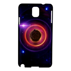 The Little Astronaut on a Tiny Fractal Planet Samsung Galaxy Note 3 N9005 Hardshell Case