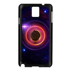The Little Astronaut on a Tiny Fractal Planet Samsung Galaxy Note 3 N9005 Case (Black)