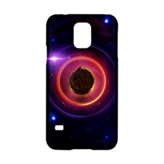 The Little Astronaut on a Tiny Fractal Planet Samsung Galaxy S5 Hardshell Case