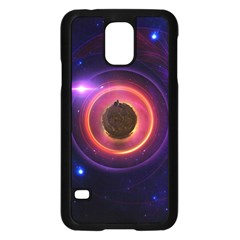 The Little Astronaut On A Tiny Fractal Planet Samsung Galaxy S5 Case (black)
