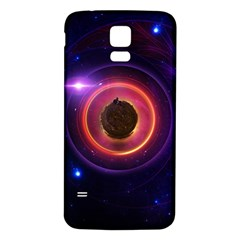 The Little Astronaut on a Tiny Fractal Planet Samsung Galaxy S5 Back Case (White)