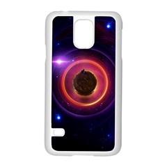 The Little Astronaut on a Tiny Fractal Planet Samsung Galaxy S5 Case (White)