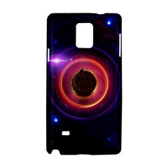 The Little Astronaut on a Tiny Fractal Planet Samsung Galaxy Note 4 Hardshell Case